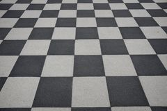 Checkered floor Royalty Free Stock Images