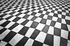 Checkered floor of place Massena, Nice. France stock photos