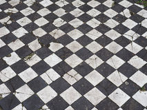 Checkered floor texture Royalty Free Stock Image