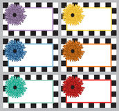 Checkered flower labels Stock Images
