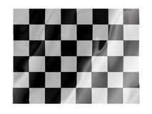 Checkered fluttering. Fluttering image of a checkered flag Stock Photos