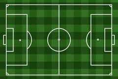Checkered Fußballplatzhintergrund Stockbild