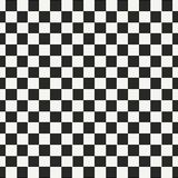 Checkered geometric seamless pattern with small jagged square shapes. Abstract monochrome black and white texture. Checker chess background, repeat tiles royalty free illustration