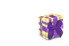 Checkered Gift Box With Tartan Pattern Isolated On White Backgro Royalty Free Stock Image