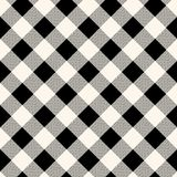Checkered gingham fabric seamless pattern in blue grey and white, vector. EPS 10 vector illustration