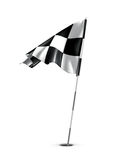 Checkered golf flag Royalty Free Stock Photo