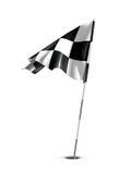 Checkered Golfmarkierungsfahne Lizenzfreies Stockfoto