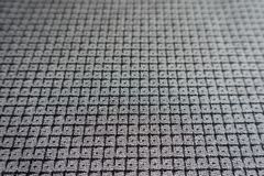 Checkered gray viscose fabric surface Royalty Free Stock Photography