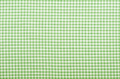 Checkered green fabric. Checkered fabric closeup - series - green. Good for background Stock Photography