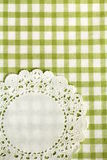 Checkered green  kitchen towel Stock Images