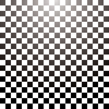 Checkered grid tile. Abstract checkered tile with a radial gradient in black and white Stock Photo