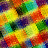 Checkered grunge striped rainbow diagonal background Royalty Free Stock Photo