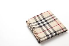 Checkered handkerchief Stock Photography