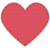 Checkered heart Royalty Free Stock Photo