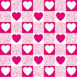 Checkered Heart Pattern Stock Photo