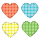Checkered hearts Stock Images