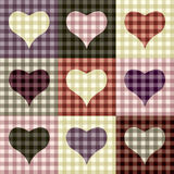 Checkered hearts Stock Photos