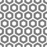 Checkered hexagons seamless pattern. Royalty Free Stock Photo