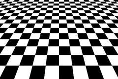 Checkered Hintergrund in der Perspektive lizenzfreie stockfotografie