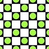 Checkered Hintergrund des grünen Punktes Lizenzfreies Stockbild
