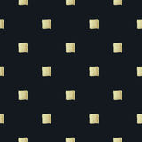 Checkered Hintergrund Goldener Lack Nahtloses BG Stockfotografie