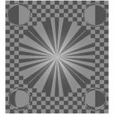 Checkered Hintergrund Illusionsstraße in der Perspektive Stockfotografie