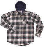 Checkered hoodie shirt isolated on white Royalty Free Stock Images