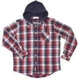 Checkered hoodie shirt isolated on white Royalty Free Stock Image