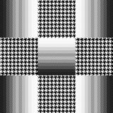 Checkered hounds tooth and chevron print Royalty Free Stock Images