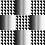 Checkered hounds tooth and chevron print Royalty Free Stock Image