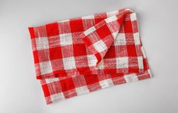 Checkered kitchen towel. On white background Stock Photography