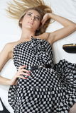 Checkered Kleid Lizenzfreie Stockbilder