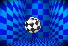 Checkered Kugel Lizenzfreie Stockbilder
