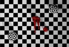 Checkered Kunstaufbau Lizenzfreie Stockbilder