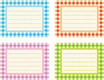 Checkered Labels Royalty Free Stock Photos