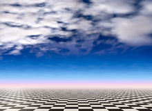 Checkered landscape background Stock Photo