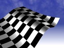 Checkered laufende Markierungsfahne Stockbild