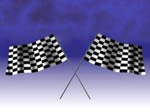 Checkered laufende Markierungsfahne Lizenzfreie Stockfotografie