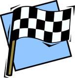 Checkered laufende Markierungsfahne Lizenzfreies Stockfoto