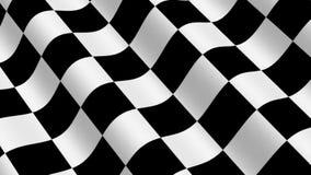Checkered laufende Markierungsfahne vektor abbildung