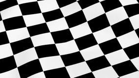 Checkered laufende Markierungsfahne lizenzfreie abbildung