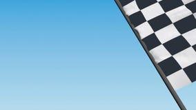 Checkered laufende Markierungsfahne stock abbildung