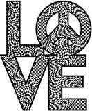 Checkered LOVE=Peace Стоковое Изображение