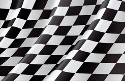Checkered Markierungsfahne Stockfotos