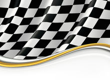 Checkered Markierungsfahne Lizenzfreie Stockfotos