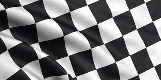 Checkered Markierungsfahne Lizenzfreie Stockbilder