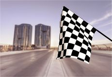 Checkered Markierungsfahne Stockfoto