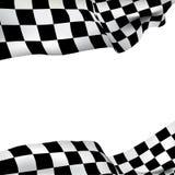 Checkered Markierungsfahne des Hintergrundes Stockfoto