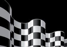 Checkered Markierungsfahne stellte 2 ein Stockbild