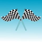 Checkered Markierungsfahnen Lizenzfreie Stockbilder